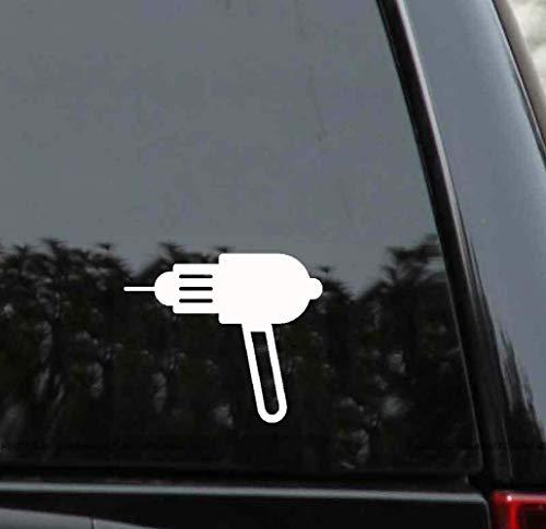 13 cm x 10,4 cm kabelreparatiegereedschap boormachine sticker auto sticker voor auto laptop venster sticker