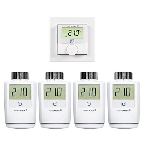 Homematic IP Ergänzungsset Heizung mit 4X Heizkörperthermostat und 1x Wandthermostat