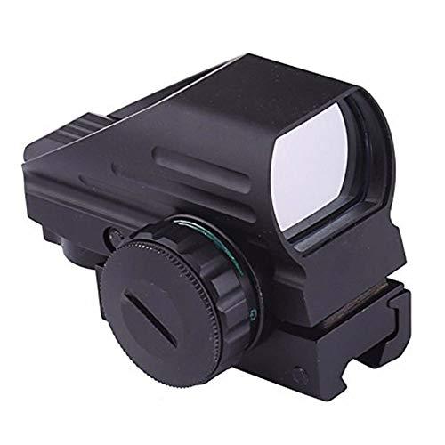 MAYMOC óptica compacta reflejo verde vista telescópica 4 retícula visor de punto rojo para Airsoft con Weaver 20mm montaje
