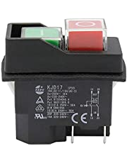 Waterdichte industriële drukknopschakelaar KEDU KJD17 4pins 2HP elektromagnetische industriële schakelaar