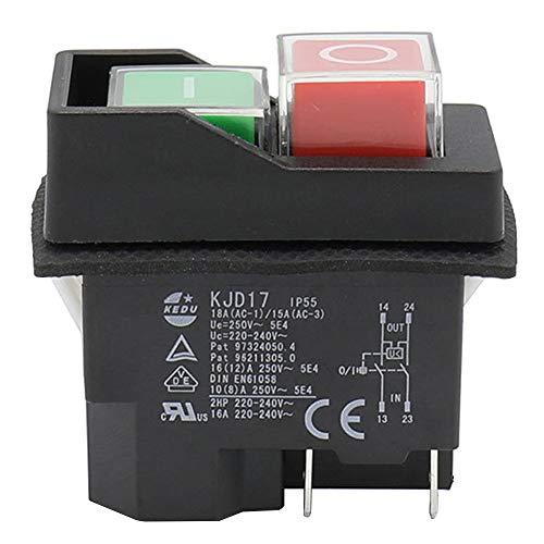 Interruptores Mediante Pulsación de Botón Interruptores de la Industria Hidráulica Kedu KJD17-4Pins 2HP