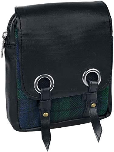 Black Premium by EMP Kilt Bag Männer Gürteltasche grün/blau