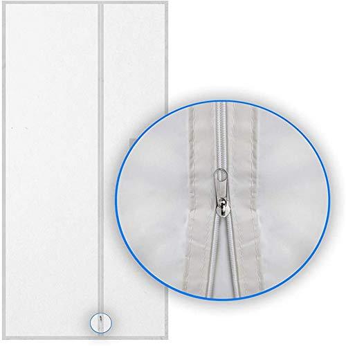 Finelyty Schiebetür-Fensterdichtungstuch, tragbarer Fensterdichtungs-Heißluftstopp, wasserdichte Luftaustauschschutzvorrichtungen mit Reißverschluss-AC-Fenstersatz