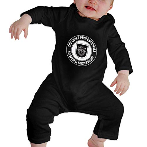 Lsjuee 5. Special Forces Group Neugeborene Langarm Bodysuits Strampler Outfits