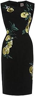 柑橘 モチーフ 刺繍 ノースリーブ ワンピース ショートドレス (XL)