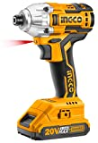 INGCO POWERTOOLS & HANDTOOLS Impact Wrench Driver Cirli2002 Lithium-Ion with 2 Pieces Battery