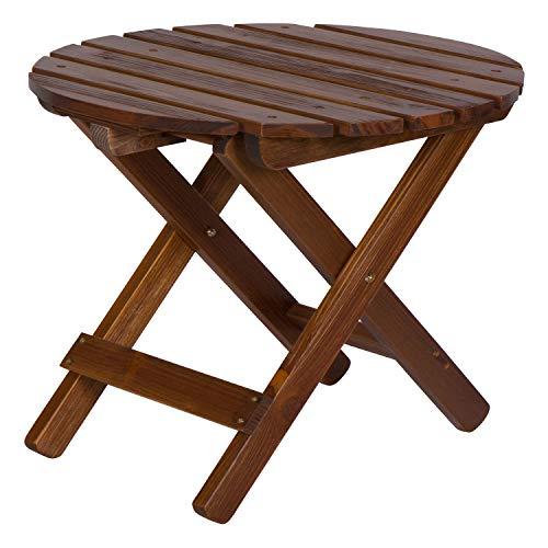 Shine Company Round Side Table, Cedar, Oak