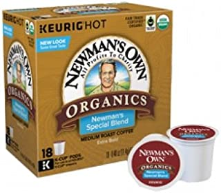 Newman's Own Organics Coffee - Special Blend Keurig K-cups - (18) - .40oz K-cups - 2-pack = 36 Cups
