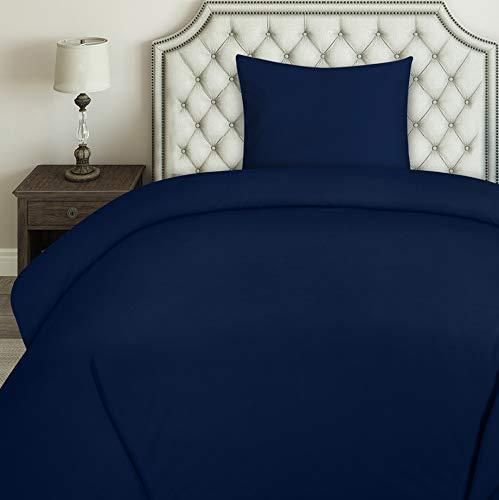 Utopia Bedding Bettwäsche-Set - Mikrofaser Bettbezug 135x200 cm und 1 Kopfkissenbezüge 80x80 cm - Marineblau Bettbezüge Set mit Reißverschluss