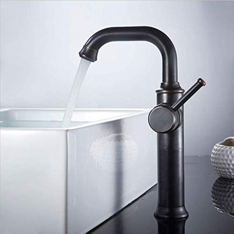 Jukunlun Waschtischarmaturen Antike Schwarze l Messing Kran Badarmaturen Heie Und Kalte Wasser Mischbatterie Zeitgenssische Mischbatterie