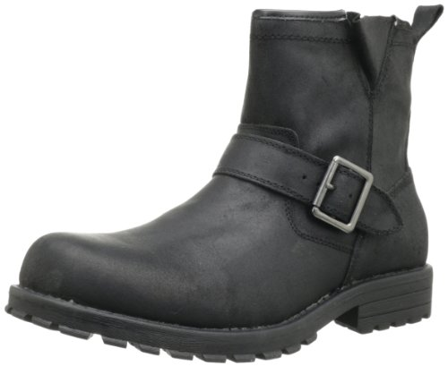 Big Sale Best Cheap Deals Skechers Men's Mid Top With Buckle Strap Pull-On Boot,Black,8.5 M US
