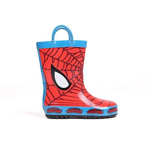 Character Kinder Maedchen Gummistiefel Regenstiefel Regenschuhe Stiefel Spiderman C5 (21.5)