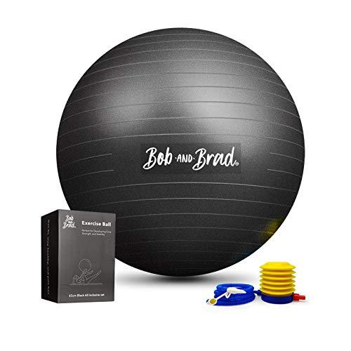 Bob and Brad Exercise Ball (65cm) Extra Thick Yoga Ball, Anti-Burst...
