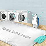 YQMAJIM Ironing Mat,Thickened (32x55 inch) Ironing Blanket Ironing Pad, Double-Side Using Heat Resistant Pad Extra Extra Large Ironing Mat for Table Top,Countertop,Etc.