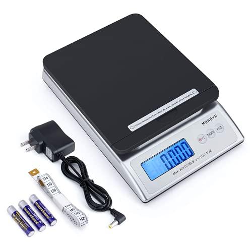 MUNBYN Pèse lettres/Pèse colis Numérique 30 kg/66lb Postal scale USB Précision 1g Écran LCD Rétroéclairé Fonction de Tare écran digital