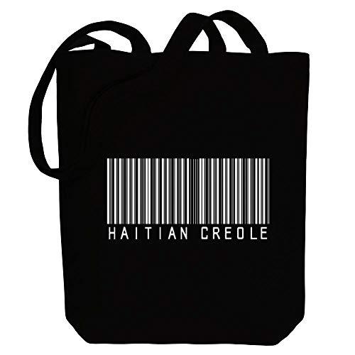 Idakoos Haitian Creolen-Einkaufstasche aus Leinen, 26,7 x 40,6 x 10,2 cm