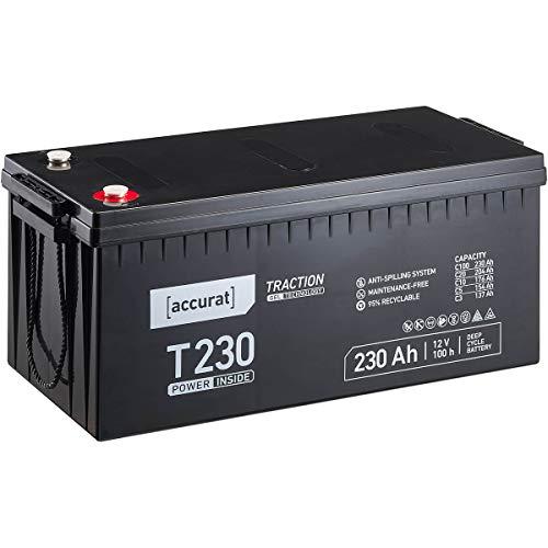 Accurat 12V 230Ah Blei-Akku Versorgungsbatterie zyklenfeste Gel-Batterie Traction T230 wartungsfrei