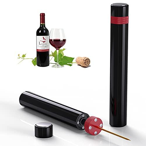 Sacacorchos Vino Profesional Quntis,Abridor de Vino Abrebotellas de Presión de Aire Abrebotellas Vino,Abrelatas de Acero Inoxidable,Bomba de Botella Regalo Mujer Hombre para Fiesta Cumpleaños-Negro