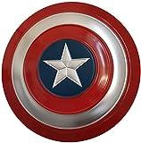 Escudo Capitan America Metal 1: 1 Adulto Apoyos de Película Niños Hierro Forjado Capitán América Shield Capitán Disfraz de Metal Shield Vengadores Capitán América B,47CM