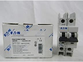 Eaton / Cutler Hammer FAZ-D30/2-NA Miniature Circuit Breaker 30 Amp 277/480 Volt AC 125 Volt DC 2-Pole DIN Rail Mount
