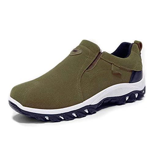 Fnho Botas de montaña Deportivas,Zapatos de Senderismo al Aire Libre,Zapatillas de Deporte Transpirables al Aire Libre, Zapatos de Senderismo de Viaje-Verde Militar_44