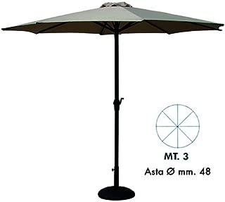3x3x2.6 cm Vette 57301 CDF06781 Ombrellone con Manovella Alluminio Quadro Verde