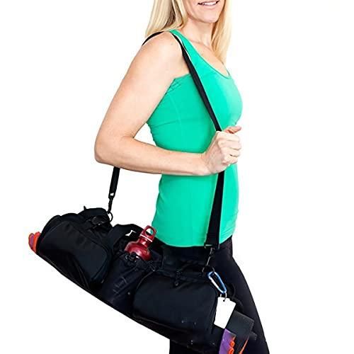 Shmtfa Bolsa Esterilla Yoga,Bolsa Hombro Tela Oxford,Bolsa Almacenamiento Pilates con MúLtiples Bolsillos,Bolsa Acabado,Bolsa Hombro Hebilla Ajustable para Mujer,Bolsa Transporte Fitness