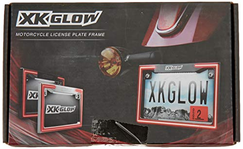 Motorcycle LED License Plate Frame with Running Turn and Brake
