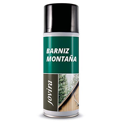 BARNIZ MADERA MONTAÑA BRILLANTE (Barniz madera exterior-interior, barniz madera incoloro-transparente). Especial resistencia en zonas montañosas (SPRAY, BRILLANTE)