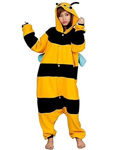 Katara-(10+ Modelos) Kigurumi Pijamas Disfraz Animal Halloween Adultos, Color abeja, Talla 165-175cm (1744)