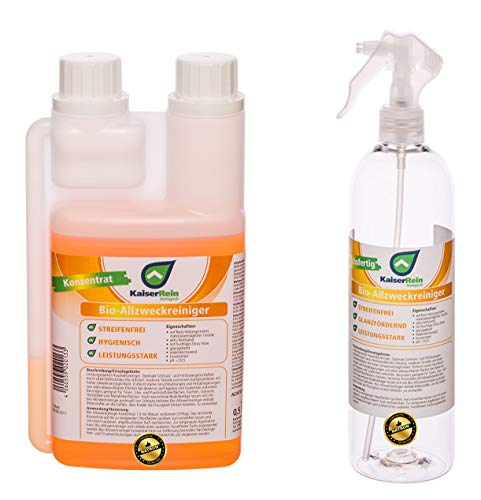 KaiserRein BIO Allzweckreiniger Konzentrat 0,5 L (500ml) Alles-Reiniger Spray mit frischem Orangen Duft