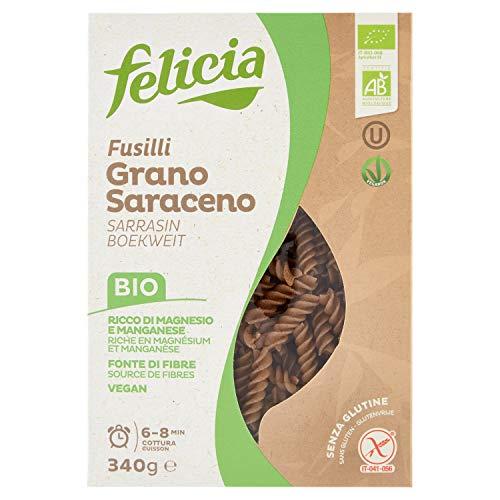 Felicia Fusilli Pasta di Grano Saraceno - 340 gr - [confezione da 6], Senza glutine
