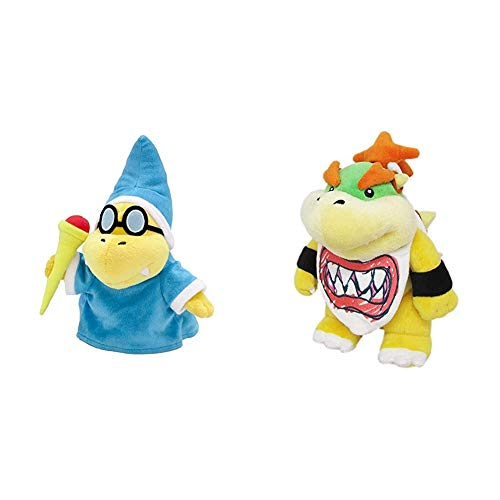 Little Buddy Super Mario All Star Collection 1599 Kamek/Magikoopa Stuffed Plush, 8',Multicolor & Super Mario All Star Collection 1424 Bowser Jr. Stuffed Plush, 8',Multi-Colored