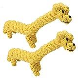 WENHANGshidai Juguete para perros de mascotas Juguete masticable Cuerda de algodón Anti-Bite Lindo diseño de forma de jirafa Dientes de mascotas Regalo de limpieza