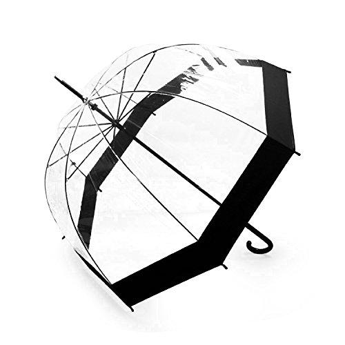 Lavievert Bubble Umbrella Birdcage Clear Umbrella with Black Border