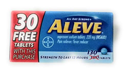 Aleve Pain Reliever Fever Reducer, 220 mg - 100 Tablets + Bounus 30% More