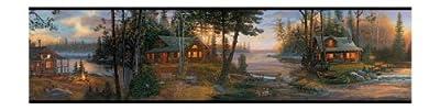 York Wallcoverings Lake Forest Lodge Cabin Fever Border