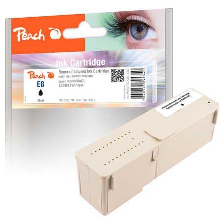 Peach Tintenpatrone schwarz kompatibel zu Epson C33S020407, SJIC8bk