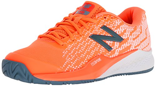New Balance Women's 996 V3 Hard Court Tennis Shoe, Orange, 7 B US