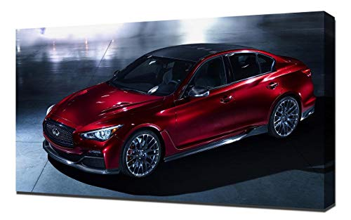 2014-Infiniti-Q50-Eau-Rouge-Concept-V6-1080 - Canvas Art Print - Muur Kunst - Canvas Wrap