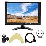 Mavis Laven Monitor - Universal 10.1 Pollici 1280x800 Supporta 1080P 16:10 Supporto Monitor LCD HD Ingresso Hdmi/Vga/Av Adatto per Raspberry Pi/Xbox/360/Ps4/Cctv/Ecc(EU)