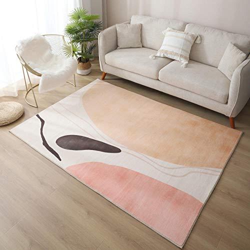 Alfombras, alfombras sin obstáculos, Pelo Corto y Esponjoso, Adecuado para baño, habitación para niños-7_100x160cm