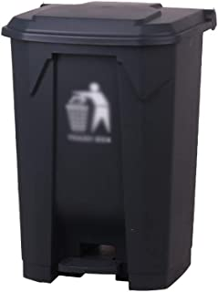 C-J-Xin Outdoor Waste Bins, with Cover Foot-Operated Dustbin Park Street Hotel Garden Garbage Recycling Bin,68L Plastic Tr...