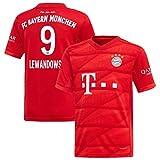 FC Kits Herren Trikot Bayern München #9 Lewondowski Home 2019/2020 (S-XL), Small