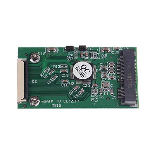 TOOGOO Mini Msata Pci-E 1,8 Pulgadas Ssd A 40 Pin ZIF CE Adaptador De Cable Tarjeta De Convertidora