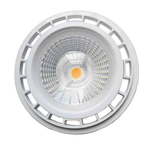 YAKAiYAL 12W AR111 GU10 Lámpara LED 220V COB ES111 Blanco Cálido 3000K 1200 Lúmenes 60 Grados como Reemplazo de la Bombilla Halógena 75W (1-Pack, No Regulable)