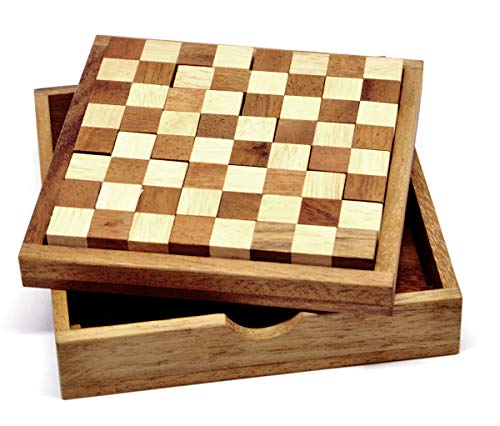 Logica Spiele Art. Pentamino 60 Rätsel In 1 - Denkspiel aus Holz - Schwierigkeit 3/6 Schwierig und 4/6 Extrem - Knobelspiel - Geduldspiel - 1 Brettspiel - Euklid Serie