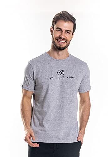 Camiseta Nogah Corpo Mente e Alma Mescla (GG)