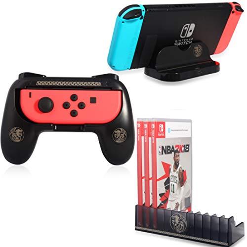 【最新3-in-1セット】Joy-Conハンドル Switchドック 充電スタンド Switch 用ゲームディスク収納ラック For ッチ モンスターハンター セット
