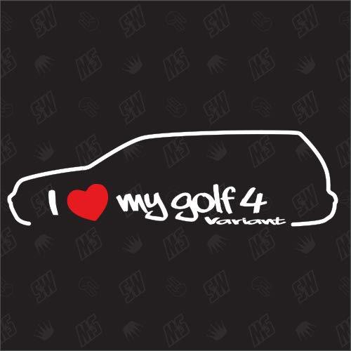 I Love My Golf 4 Variant - Sticker für VW, ab Bj.99-06